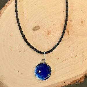 Jewelry - BOGO Braided black choker Moon pendant
